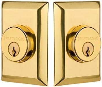 Nostalgic Warehouse New York Double Cylinder Deadbolt Unlacquered Brass