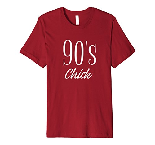 Mens 90's Chick Shirt, 90's T-shirt, Fun Novelty Tee Small Cranberry - College Guy Halloween Costumes Ideas