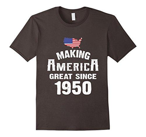 Mens Birthday shirt Making America Great Since 1950 Age T shirt XL (1950's Mens Shirt)