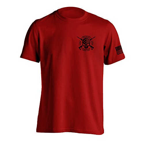 (One Nation Under God Military T-Shirt Large Red)