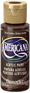 DecoArt Americana Acrylic Paint, 2-Ounce, Burnt Umber