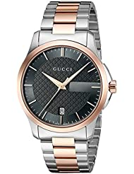 Gucci G-Timelss Quartz Stainless Steel Silver-Toned Watch(Model: YA126446)