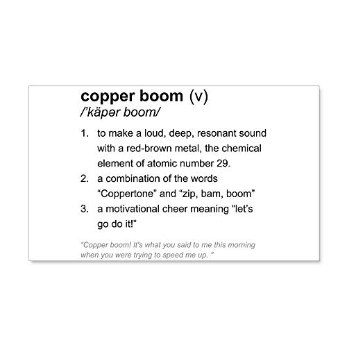 CafePress Copper Boom Definition Wall Decal 20x12 Wall Decal, Vinyl Wall Peel, Reusable Wall Cling by CafePress