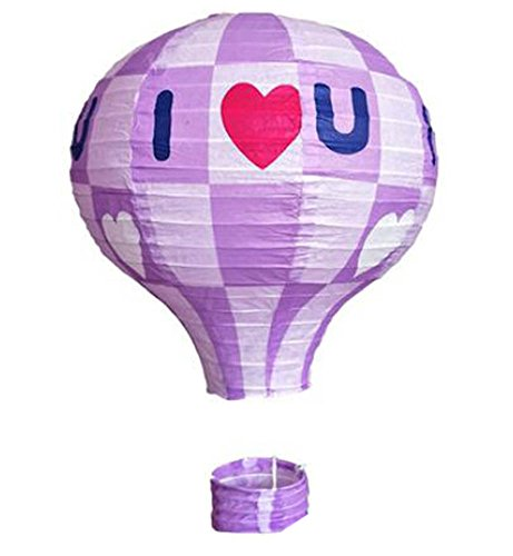 George Jimmy Birthday Party/Christmas/Easter/Mall Decoration Hanging Paper Lantern Hot Air Balloon(Purple)
