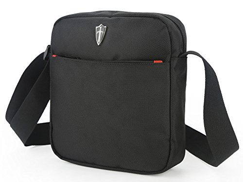 Victoriatourist V5006 Vertical Messenger Bag for iPad-Mini & Tablets (Collection Computer Zippered Flap)