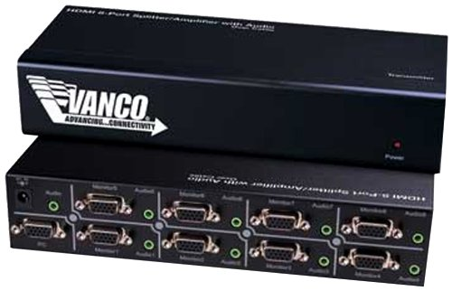 Vanco 280448 S-VGA 1x8 Splitter with Audio by Vanco