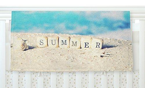 KESS InHouse Monika Strigel Summer at the Beach Blue Coastal 30 x 40 Fleece Baby Blanket 40 x 30 [並行輸入品]   B077Z2HBY5