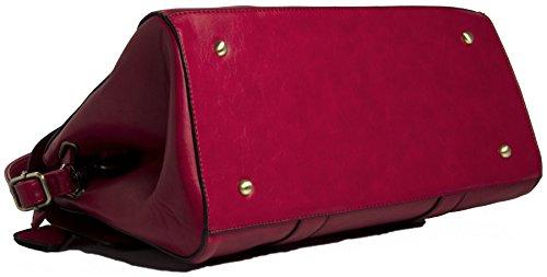 Large Womens Tote Handle Boutique Handbag Bag Top Big Red Designer Leather Vegan Shop Shoulder 8R7nFz7