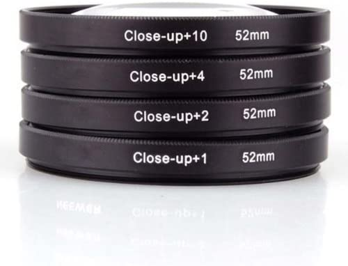 52Mm 4Pc Close-Up Kit Macro Lenses For Nikon D40 D40X D60 /& All Other 52Mm Lenses