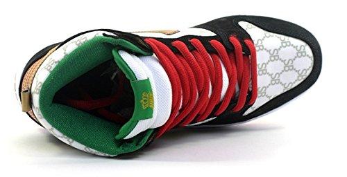 Menns Nike Dunk Høy Premie Sb Sorte Får Betalt I Sin Helhet Rullebrett Sko - 313171 170 Hvit / Svart / Gull / Rød