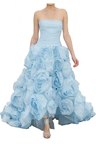 Toskana novia de gran calidad Traeger los Vestidos de noche de flores largo Organza tuell Fiestas Ball Ropa