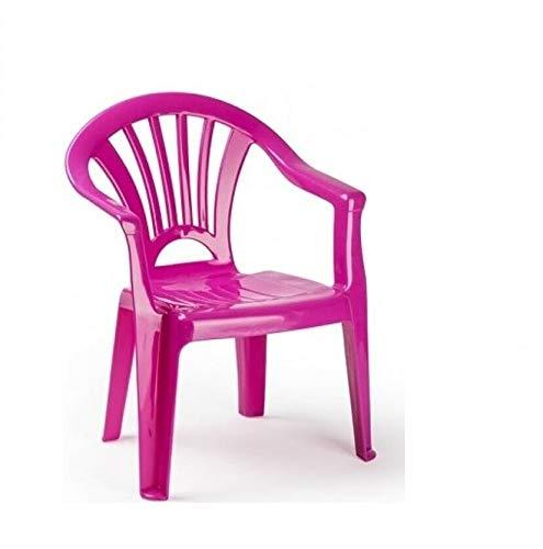 PLASTIFORTE Silla de pl/ástico Color Rosa para ni/ños PlasticForte