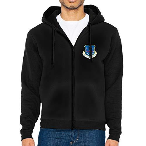 115TH Fighter Wing FSS Men's Full-Zip Up Hoodie Jacket Pullover Sweatshirt Black ()