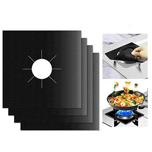 Flowop Kitchen Clean Mat, Gas Range Stoves Cooking Temperature Resistance Protection Cover Clean Mat Reusable, Non-Stick, Dishwasher Safe, Easy to Clean