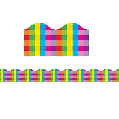 (Trend Enterprises Terrific Rainbow Plaid Bulletin Board Trimmer (TEPT92044))