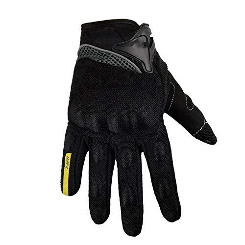 Motorcycle Gloves Summer Full Finger Protective guantes moto Motocross luva motociclista, black,M