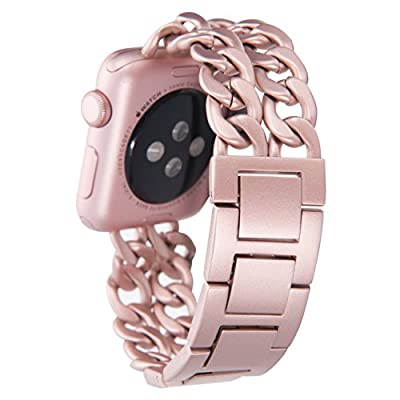 Apple Watch Band, Aokay 38mm Stainless Steel Metal Cowboy Chain Band for Apple Watch Series 2 Series 1 38mm from Aokay