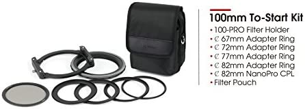 Haida NanoPro 100-Pro To Start Filter /& Holder Kit 100mm 67mm 72mm 77mm 82mm Adapters /& Storage Pouch HD3731 Includes CPL