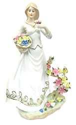 Collectible Figurines : New!!! Charms Beautiful Girl Dolls in Wild Flowers for a Goddess for Christmas Gift and Home Decor (Stand Approx. 18 Inch High)