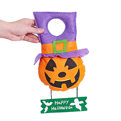 Sunshinehomely Halloween Trick Treat Hanging Sign Decoration Happy Halloween Sign Door Wall Signs Home,School,Outdoor,Halloween Party Decorations (A)