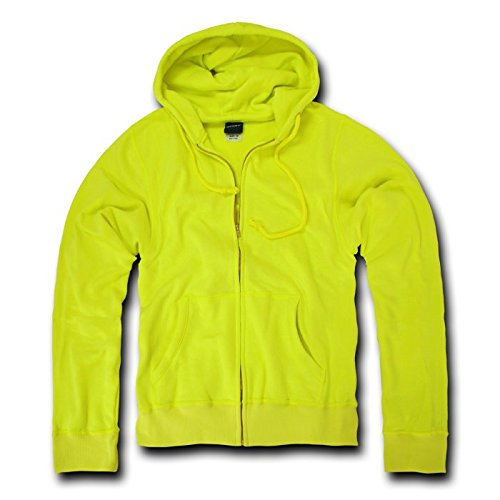 Decky Neon Basic Zip up Fleece Hoodies