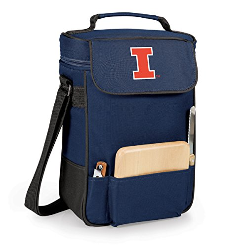 (NCAA Illinois Fighting Illini Duet Insulated Wine and Cheese Tote with Team Logo)
