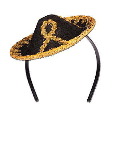 - Forum Novelties Mini Sombrero Black-Gold