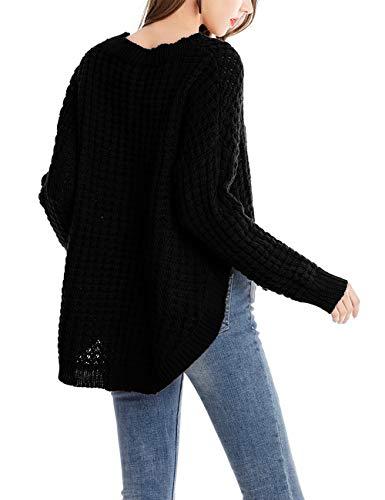 Chunky Knitted Cable Maglione Inverno da Donna Sweater Elegante Pullover Jumper Top Low Felpe Zhuhaijq Hem Moda Blanco High Autunno 0fwzwq8