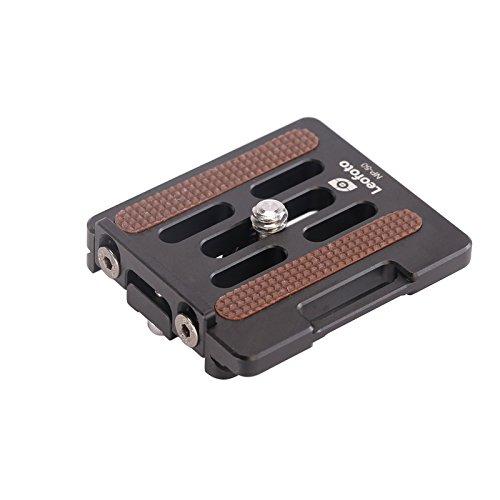 Leofoto NP-50 50mm Lens / Camera QR Plate w Retractable Backstop Arca / RRS Lever Clamp Compatible