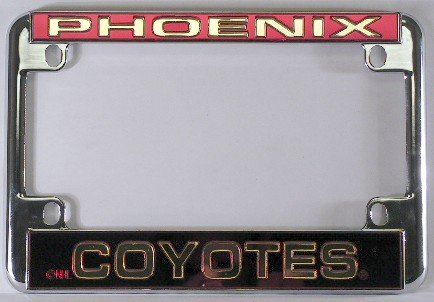 - Rico Phoenix Coyotes Chrome Motorcycle License Plate Frame