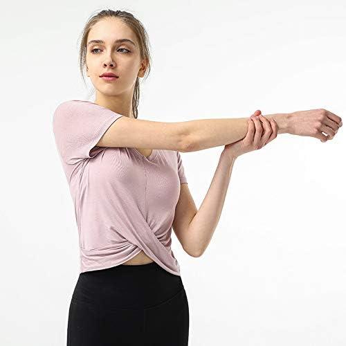 ヨガシャツ女性、ヨガシャツルーズレジャーセクシーで快適なクイックドライワークアウトタンクトップを渡ります,C,XL