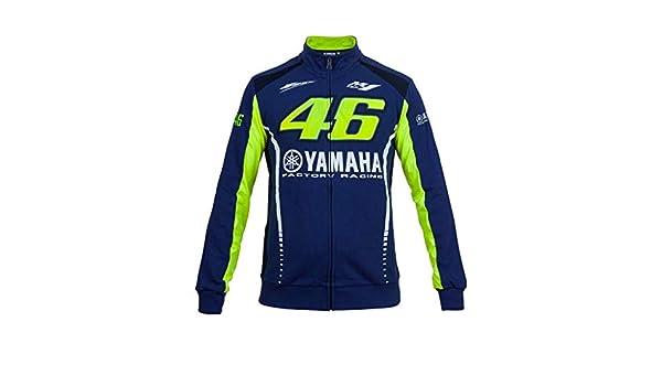 Valentino Rossi VR46 Moto GP M1 Yamaha Zipp Forro Polar Chaqueta Oficialmente 2017: Amazon.es: Coche y moto
