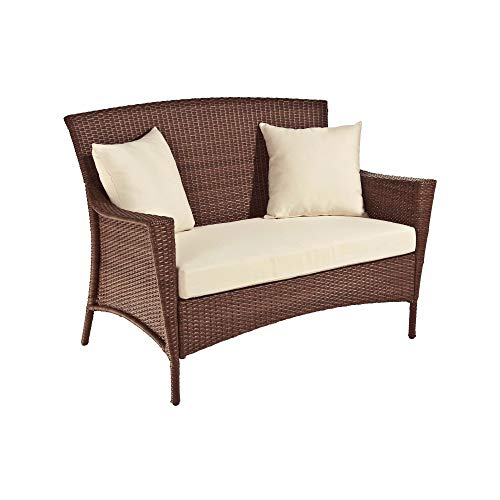 Panama Jack Key Biscayne Woven Loveseat with Cushions Polyester ()
