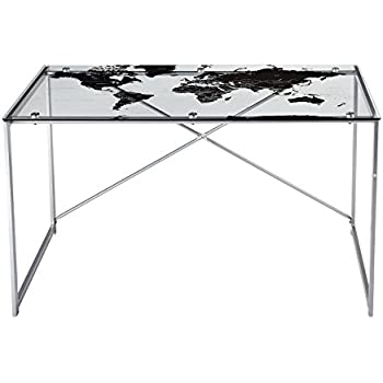 Amazon world map office desk ofd tm pgworld kitchen dining target marketing systems world map desk with a clear tempered glass top silver gumiabroncs Choice Image