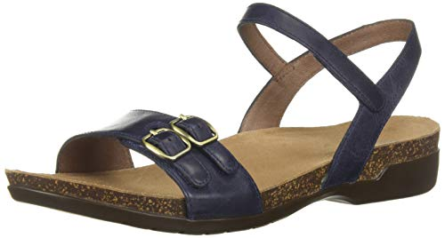 Dansko Women's Rebekah Sandal, Navy Waxy Burnished, 42 M EU (11.5-12 US)