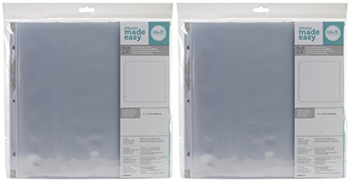 2-PACK - We R Memory Keepers 12 x 12 inch 3-Ring Album Page Protectors, 10ct / pack