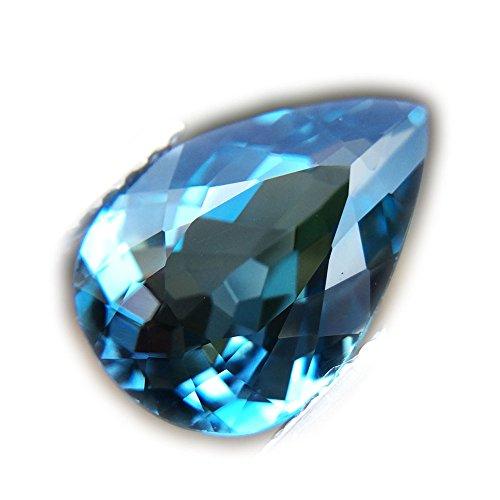 Lovemom 2.78ct Natural Pear Irradiation London Blue Topaz Brazil #W