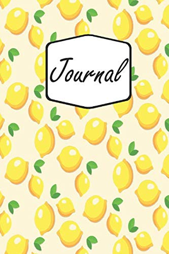 Journal: Yellow Lemons | Colorful Life Mindfulness Notebook Diary & Planner to Write in for Women, Men, and Kids (6x9 inch | lined paper | Soft Cover | 100 Pages) (E Fun Netbook)