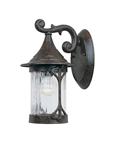 Designers Fountain 20911-CHN Canyon Lake Wall Lantern, Chestnut