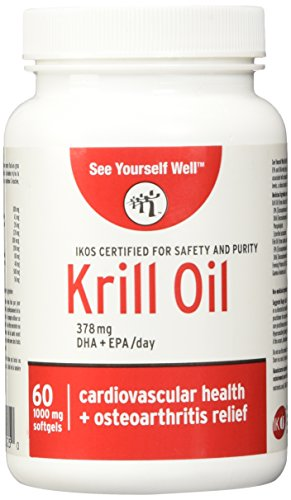 Pure Antarctic Krill Oil: Ultimate Strength Omega 3 EPA & DHA. High Bioavailabiltiy Fast Absorption. IKOS 5 Star Certified Krill Oil Supplement with Astaxantin. Easy to Swallow 1000 mg, 60 Softgels