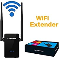 Hongyu 300Mbps WiFi Repeater, Wireless Range Extender,WiFi Booster, Signal Amplifier With Dual External Antennas and 360 Degree WiFi Full Coverage Backward Compatible with 802.11n/b/g(black)