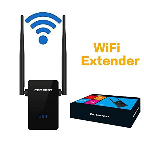 Hongyu 300Mbps WiFi Repeater, Wireless Range Extender,WiFi Booster, Signal Amplifier With Dual External Antennas and 360 Degree WiFi Full Coverage Backward Compatible with 802.11n/b/g(black) by Hongyu