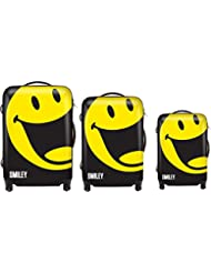 Smiley World Happy 3-Piece Luggage Set by ATM Luggage