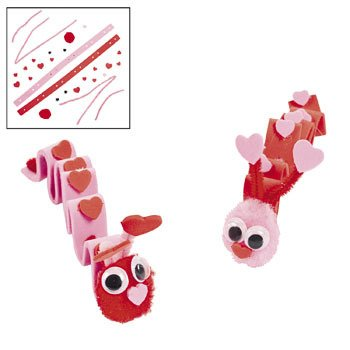 Valentine Inchworm Craft Kit