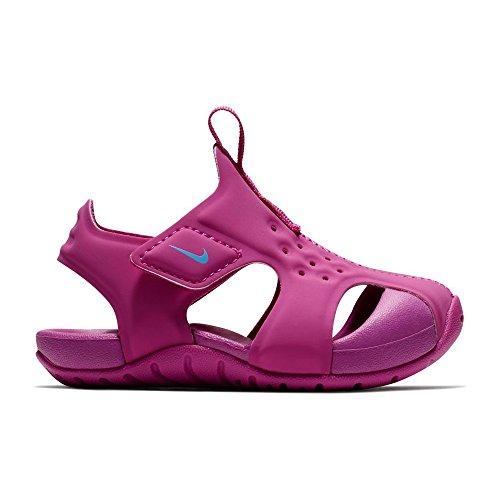 NIKE Girl's Sunray Protect Sandal Hyper Magenta/Royal Pulse 8C