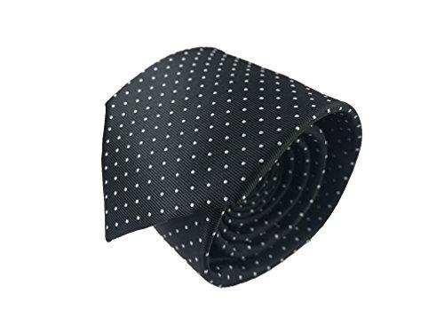 Luxury+Mens+Neckties%2C100%25+Italian+Microfiber+Hand+Made%2C+15+Awesome+Variations+%28Black%2FWhite+%28Polka+Dots%29%29