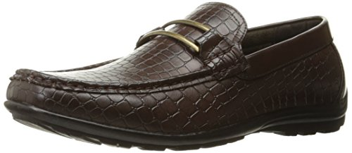 Stacy Adams Mens Lanzo Moc-teen Bit Instapper Bruin