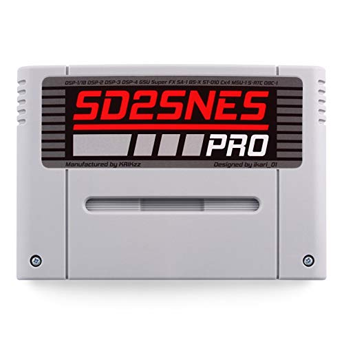 SD2SNES PRO flash cart plays all Super Nintendo games SNES Super FX and all special chips supported (Sram Card)
