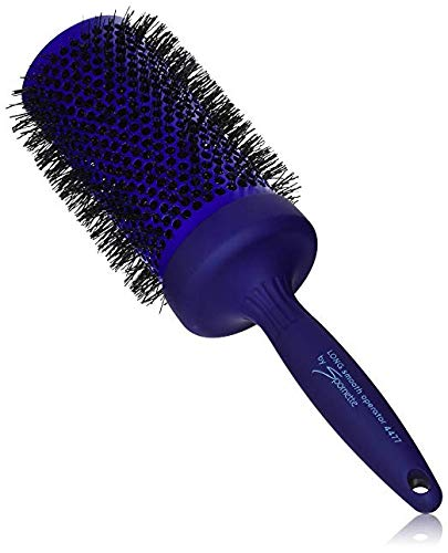 Spornette 3 1/2 Inch Long Smooth Operator Round Brush with Crimped Tourmaline Ionic Bristles & Capless Extended Ceramic Barrel #4477 for Blow Drying, Styling, Waving & Curling Long Hair ()