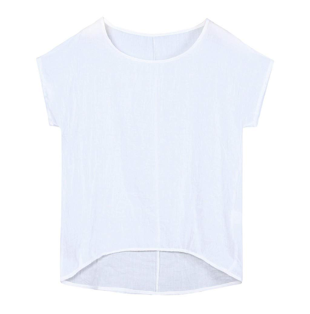 Women's T-Shirt, JHKUNO Loose Fitting Bat Wing Plain Shirts Boat Neck Dolman Top Plus Size Blouse White